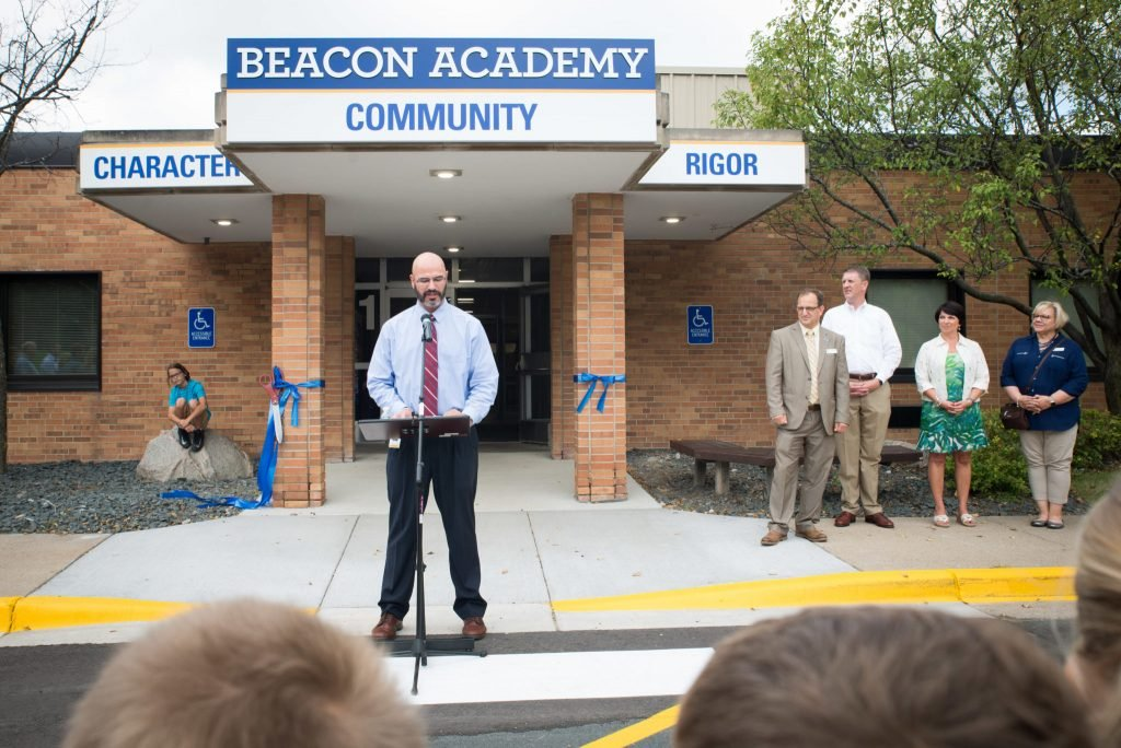 Mr. Koster Speaking at Beacon Academy