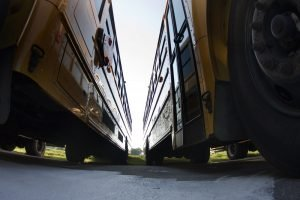 School buses prepare for another school year